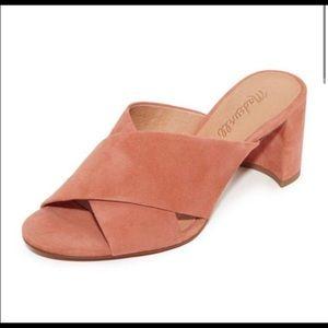 Madewell Greer Crisscross Pink Mule Sandals